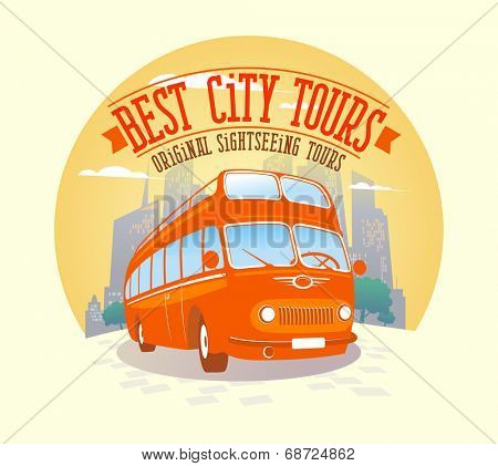 Best city tours design illustration.