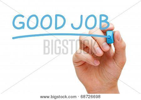 Good Job Blue Marker