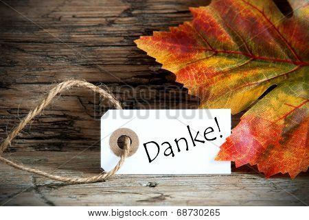 Autumn Label With Danke