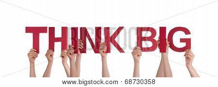 People Holding Think Big