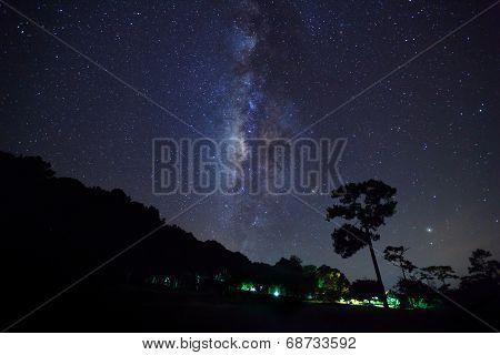 Milky Way at Phu Hin Rong Kla National Park,Phitsanulok Thailand