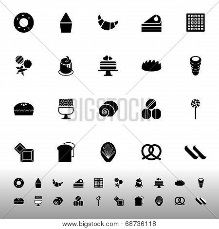 Variety Bakery Icons On White Background