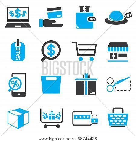 shopping, e commerce icons