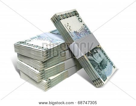 Swedish Krona Notes Bundles Stack