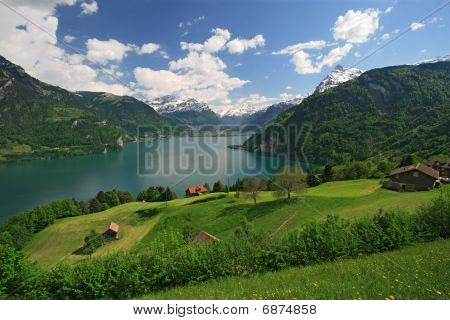 Lake Lucerne And The Alps