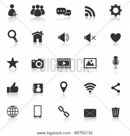 Chat Icons With Reflect On White Background