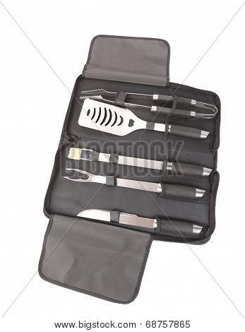 Metal kitchen utensils.