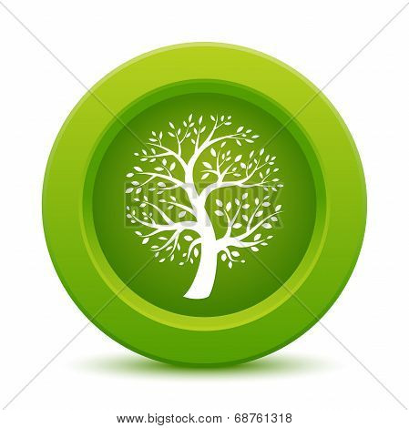 Green tree button