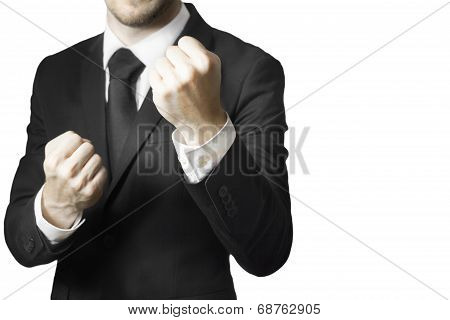 Businessman Fighter Fists Up