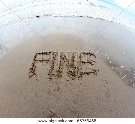 Written Italian Fine End On The Sea Beach Shot 2