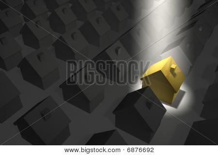 Golden-yellow House In Top Spotlight