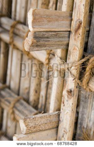 Dubai, UAE, thatch display at Heritage Village, Bur Dubai