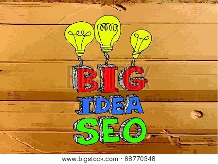 Seo Idea SEO Search Engine Optimization on Cardboard Texture illustration
