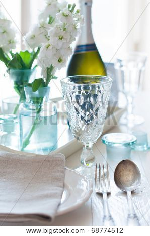 Vintage Festive Table Setting