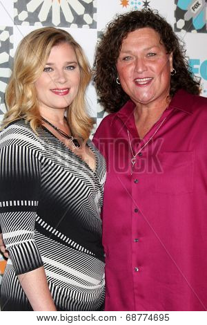 LOS ANGELES - JUL 20:  Dot Marie Jones, wife at the FOX TCA July 2014 Party at the Soho House on July 20, 2014 in West Hollywood, CA