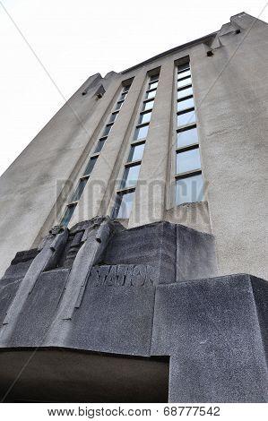 Façade Of The Building Of Radio Kootwijk
