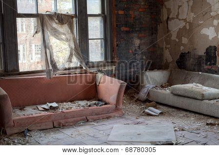 Broken sofas