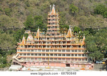 Tera Manzil Shiva Hindu temple Rishikesh, India