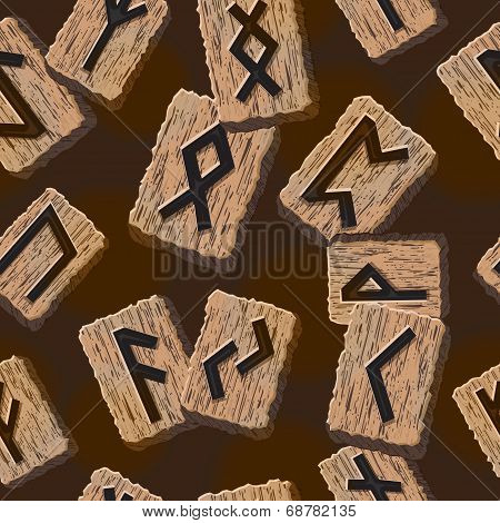 Norwegian runes Abstract vector background with Template for greeting cards, textiles