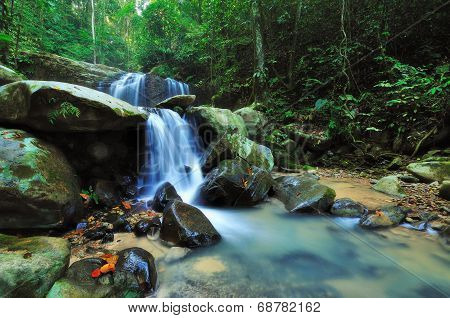 Waterfall in a Borneo Jungle, kota kinabalu