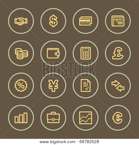 Finance web icons set, coffee series