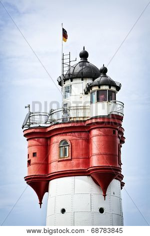 Top of Roter Sand lighthouse in the german North Sea