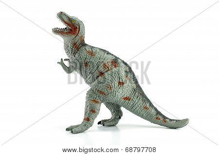 Tyrannosaurus Toy Isolated On White