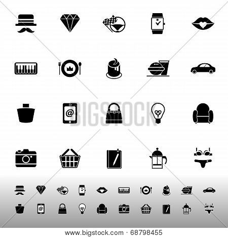 Department Store Item Category Icons On White Background