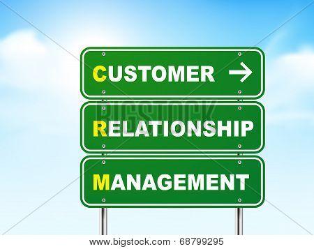 3D Customer Relationship Management Road Sign