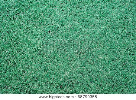 Texture Of Green Synthetic Sponge Fibers