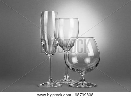 Empty different glasses