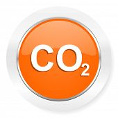 picture of carbon-dioxide  - carbon dioxide orange computer icon - JPG