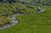 foto of natal  - The Bushmans River in Giants Castle KwaZulu - JPG
