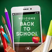 foto of pencil eraser  - Back to school  - JPG