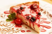 picture of cheesecake  - cheesecake with berries - JPG