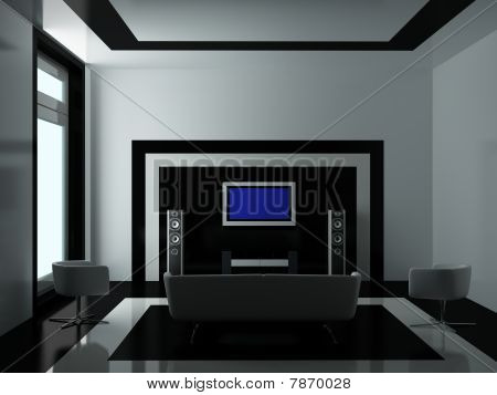 modern Interior of a Room drawing