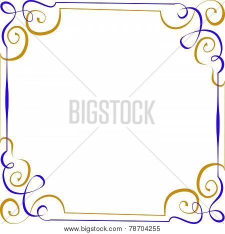 Multilayer Vector Violet Yellow Elegant Frame