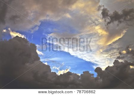 Clouds In The Evening Sky