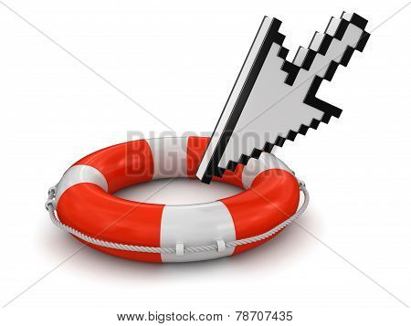 Cursor and Lifebuoy (clipping path included)