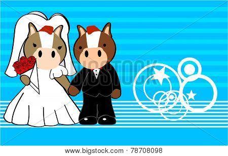 horse married cartoon background