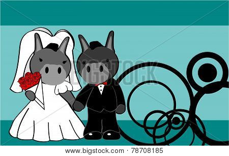 donkey married cartoon background