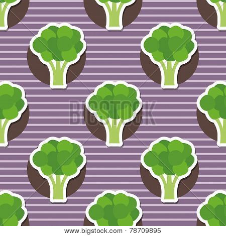 Broccoli Pattern. Seamless Texture