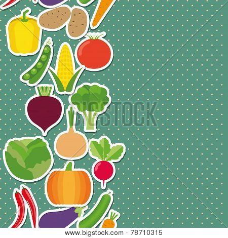 Vegetable Seamless Border Pattern. The Image Of Vegetables