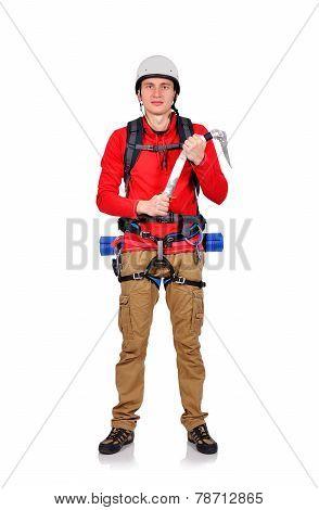 Climber With Ice Ax