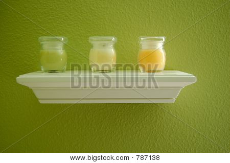 Shelf with candles