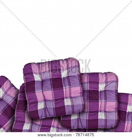 Plaid Purple Cushions