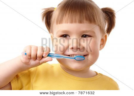 Cute Child With Toothbrush