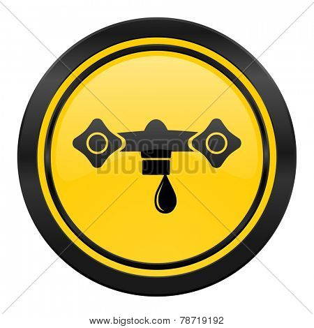 water icon, yellow logo, hydraulics sign