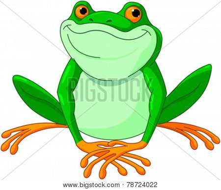 Illustration of very cute Frog