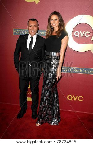 LOS ANGELES - MAR 1:  Joe Zee, Stacy Keibler at the QVC 5th Annual Red Carpet Style Event at the Four Seasons Hotel on March 1, 2014 in Beverly Hills, CA